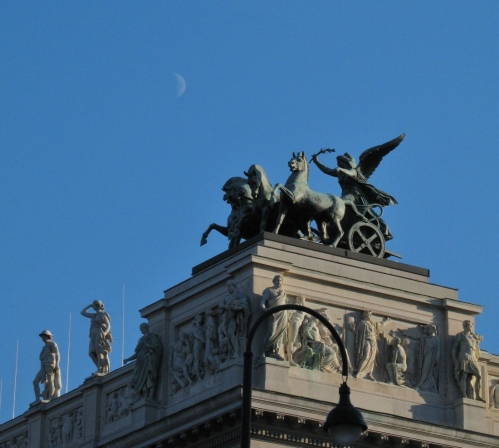Detail of Austrian Parliament Building, Vienna