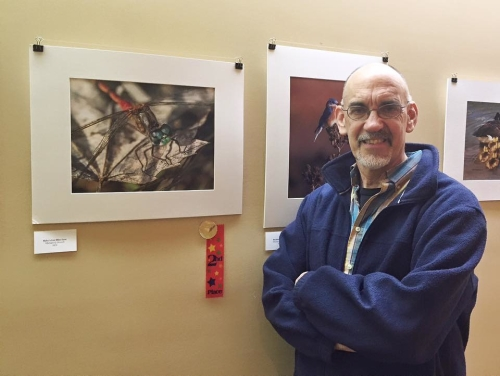 At the exhibition. (Photo by Cindy Dyer)
