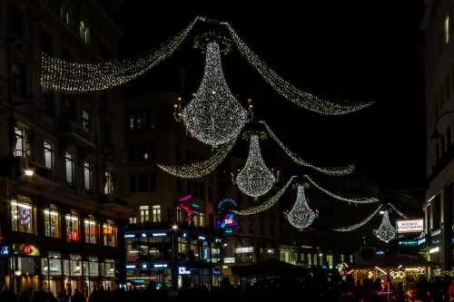 night lights in Vienna