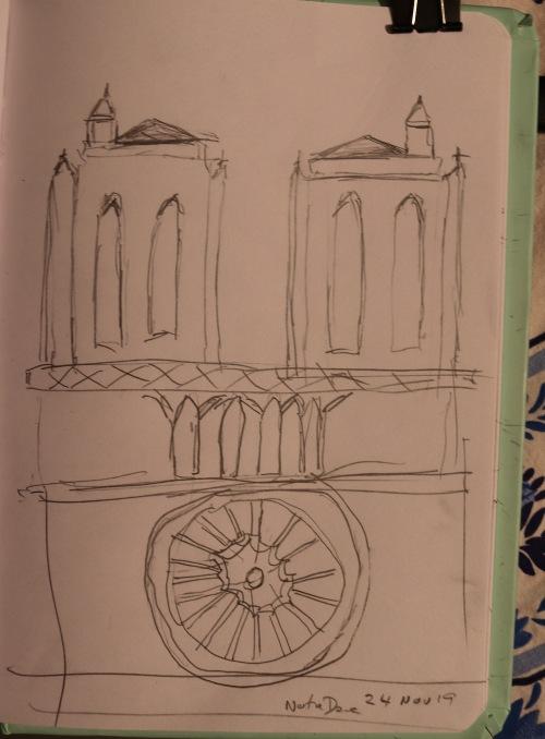 Notre Dame de Paris sketch