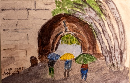 Watercolor Painting in Paris