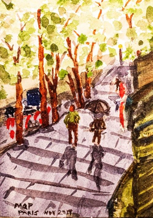Watercolor Painting in Paris