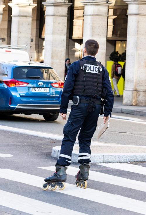 Police on roller blades