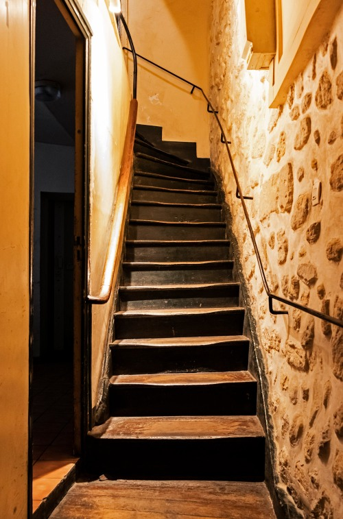 Paris apartment stairs